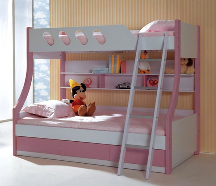 bett kinderbett hochbett winnie rosa ebay. Black Bedroom Furniture Sets. Home Design Ideas