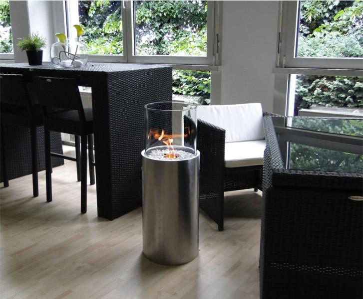 bio ethanol kamin edelstahl venezia rund 916 ebay. Black Bedroom Furniture Sets. Home Design Ideas