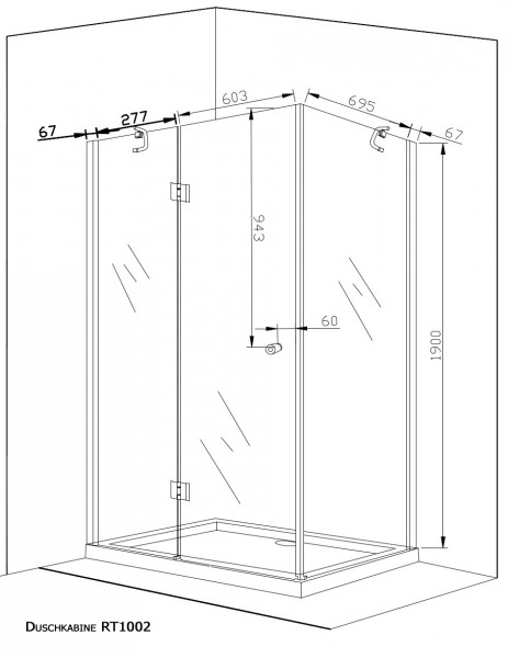 duschwand schiebet r freistehend artownit for. Black Bedroom Furniture Sets. Home Design Ideas