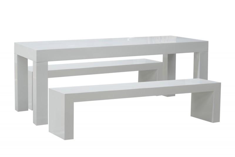 premium gartenm bel set fiberglas monaco 200x80 wei ebay. Black Bedroom Furniture Sets. Home Design Ideas