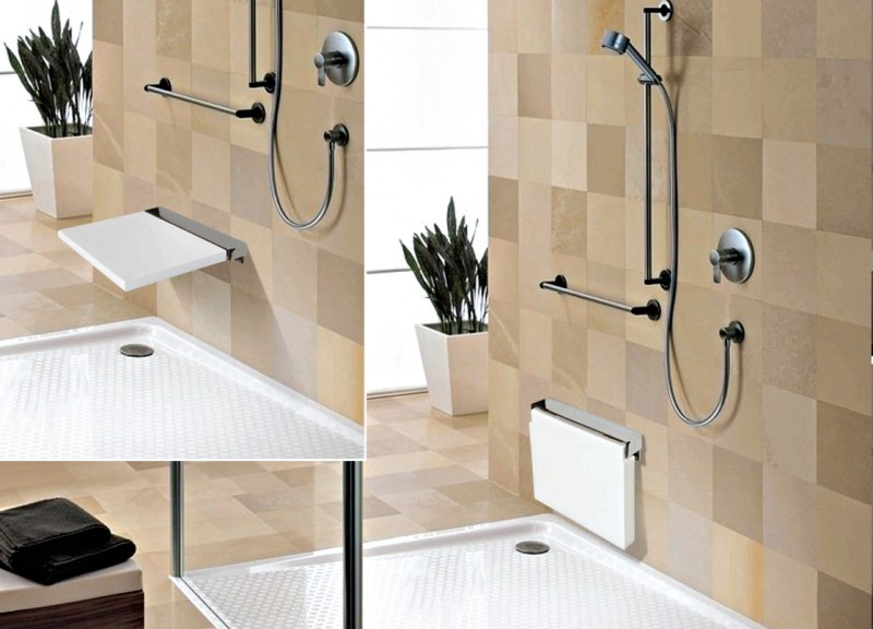 edelstahl klappsitz dusche duschklappsitz duschsitz duschhilfe 116n ebay. Black Bedroom Furniture Sets. Home Design Ideas