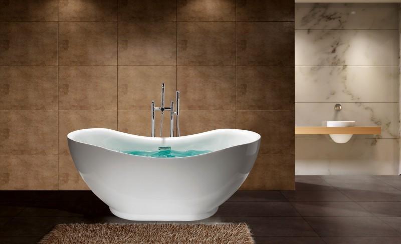 Baignoire baignoire lot ovale avec robinetterie 8028 blanc 170x79 ebay - Evacuation baignoire ilot ...