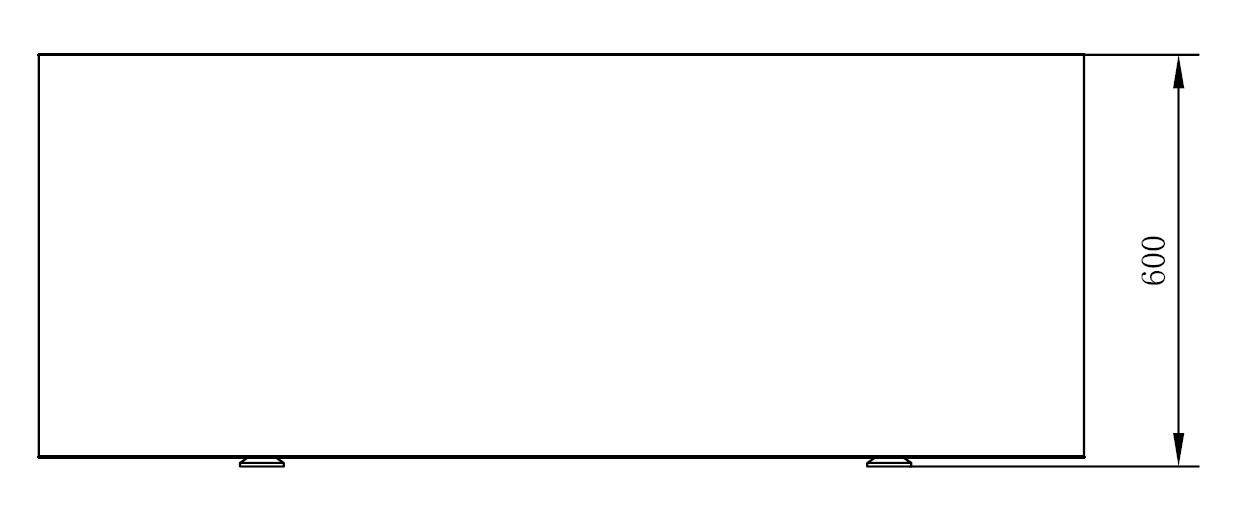 Badewanne COMFORT - Zeichnung 1