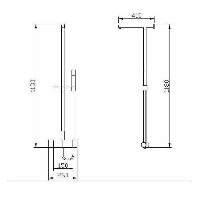 Duschsäule 8821C - Zeichnung