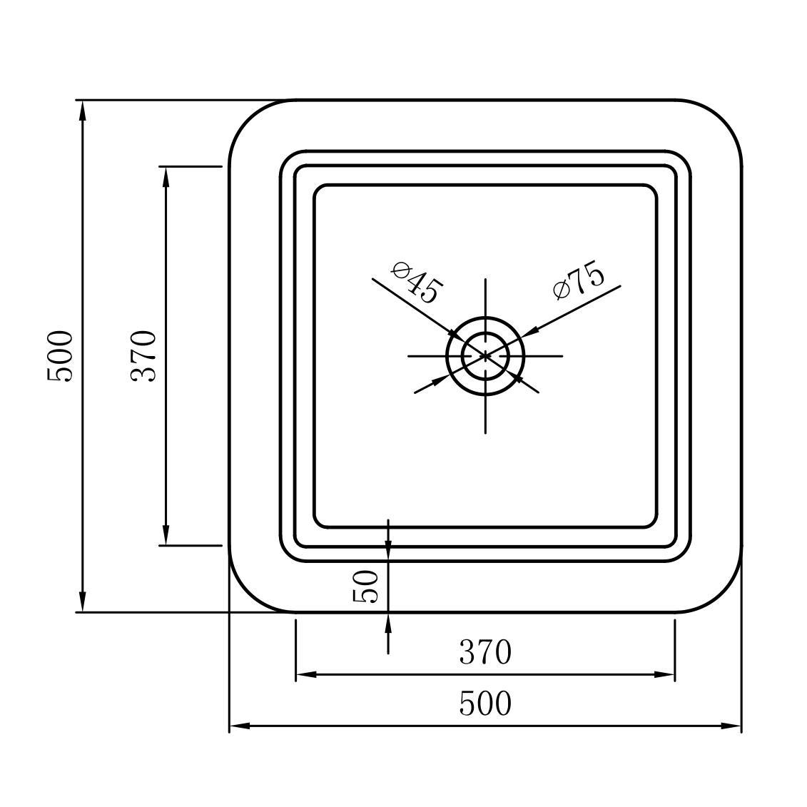 Freestanding washbasin BA31 - Drawing 2