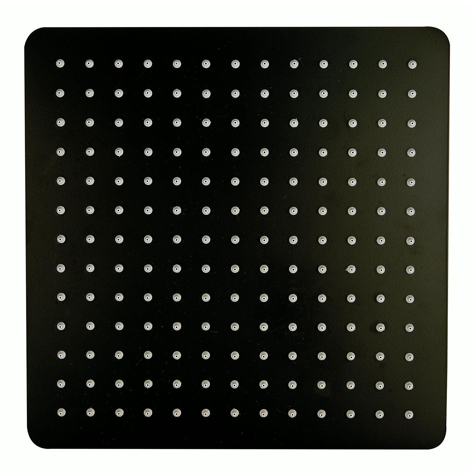 Quadratischer Duschkopf aus Edelstahl in schwarz