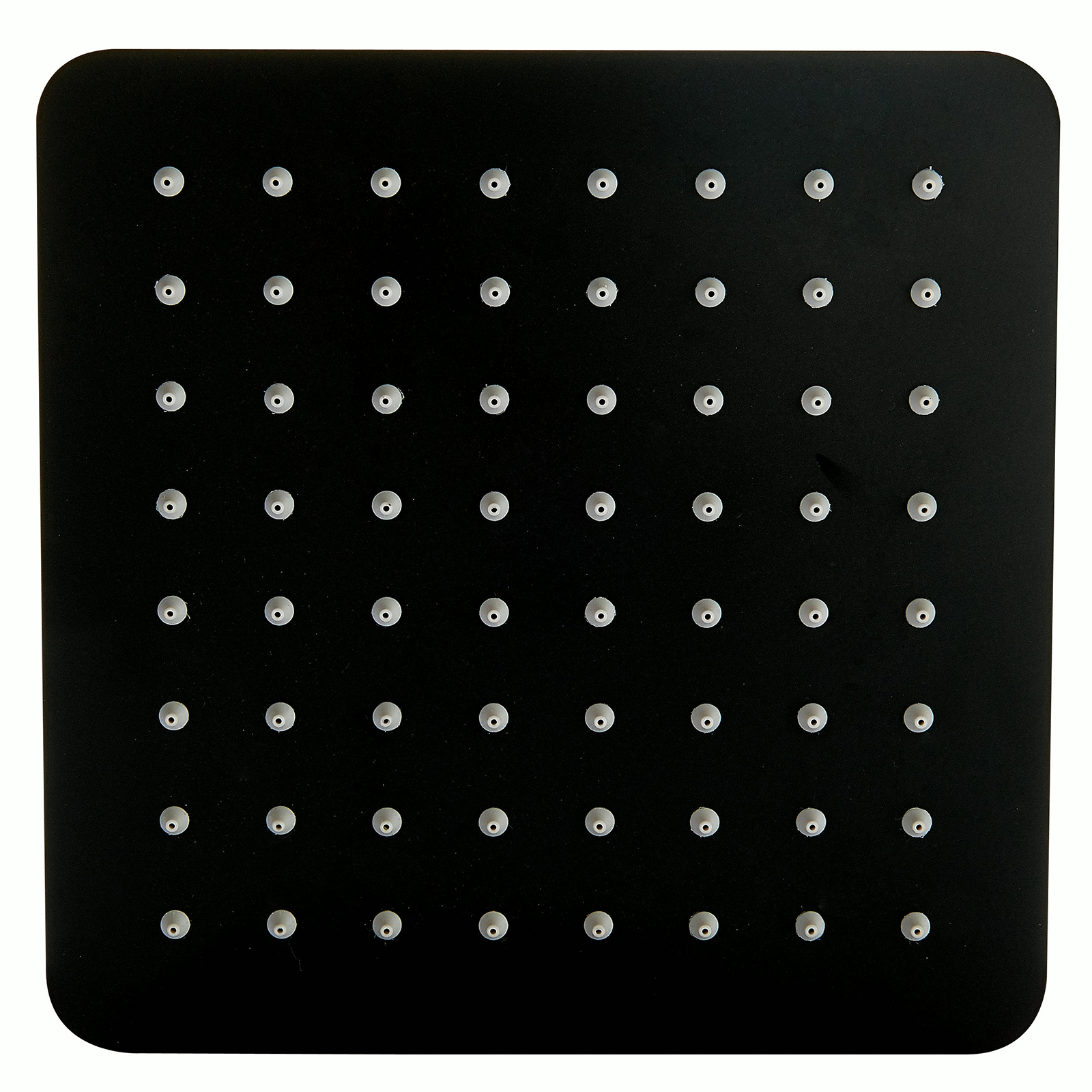 Quadratischer Duschkopf schwarz aus Edelstahl