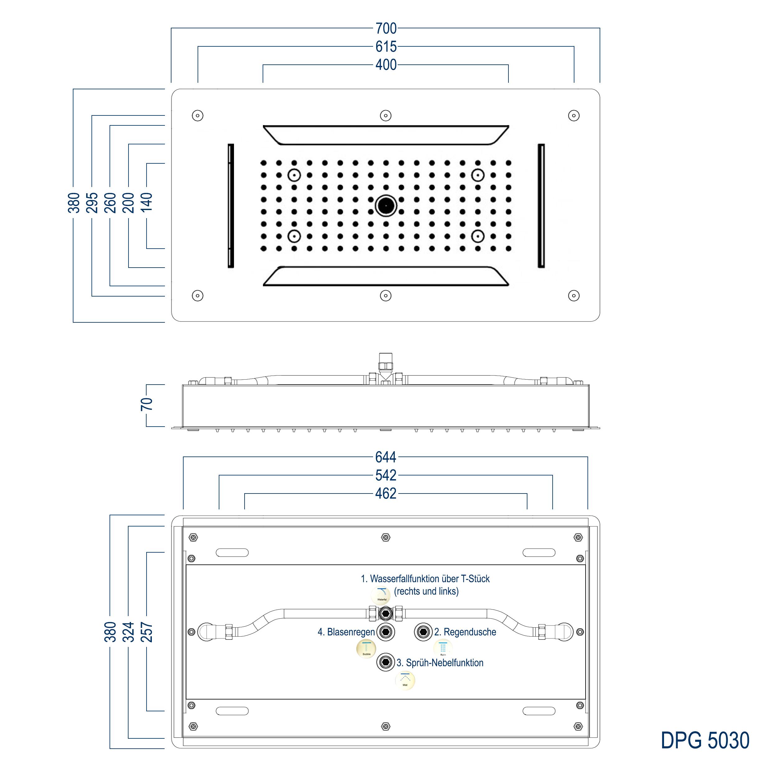 Deckenbrause DPG5030 - Zeichnung 3