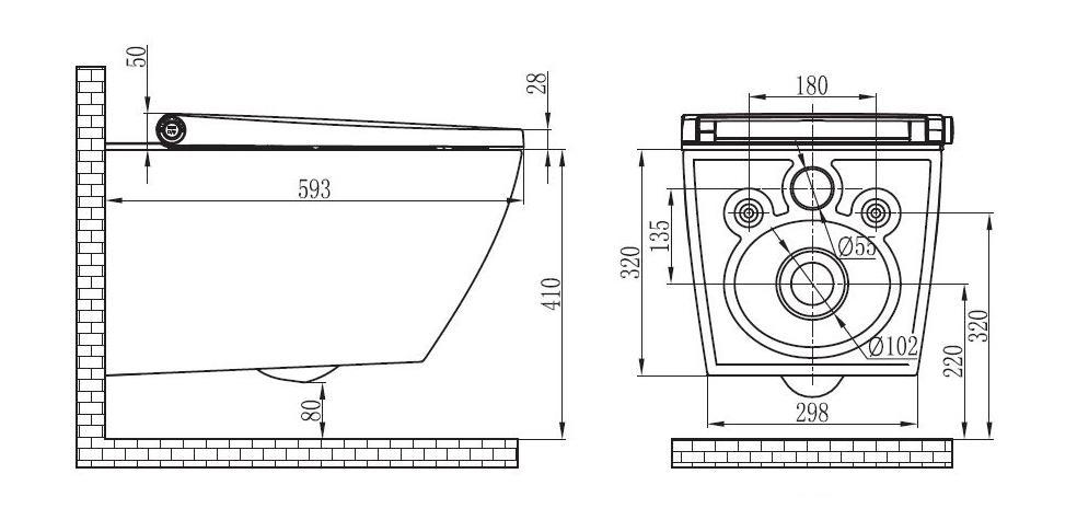 BERNSTEIN WC Dusch Pro+ 1104 - Zeichnung 1