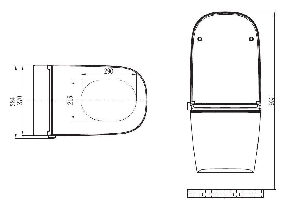 BERNSTEIN WC Dusch Pro+ 1104 - Zeichnung 2