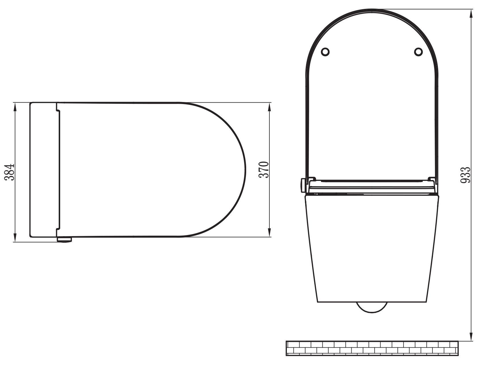 BERNSTEIN Dusch-WC Basic - Zeichnung 2