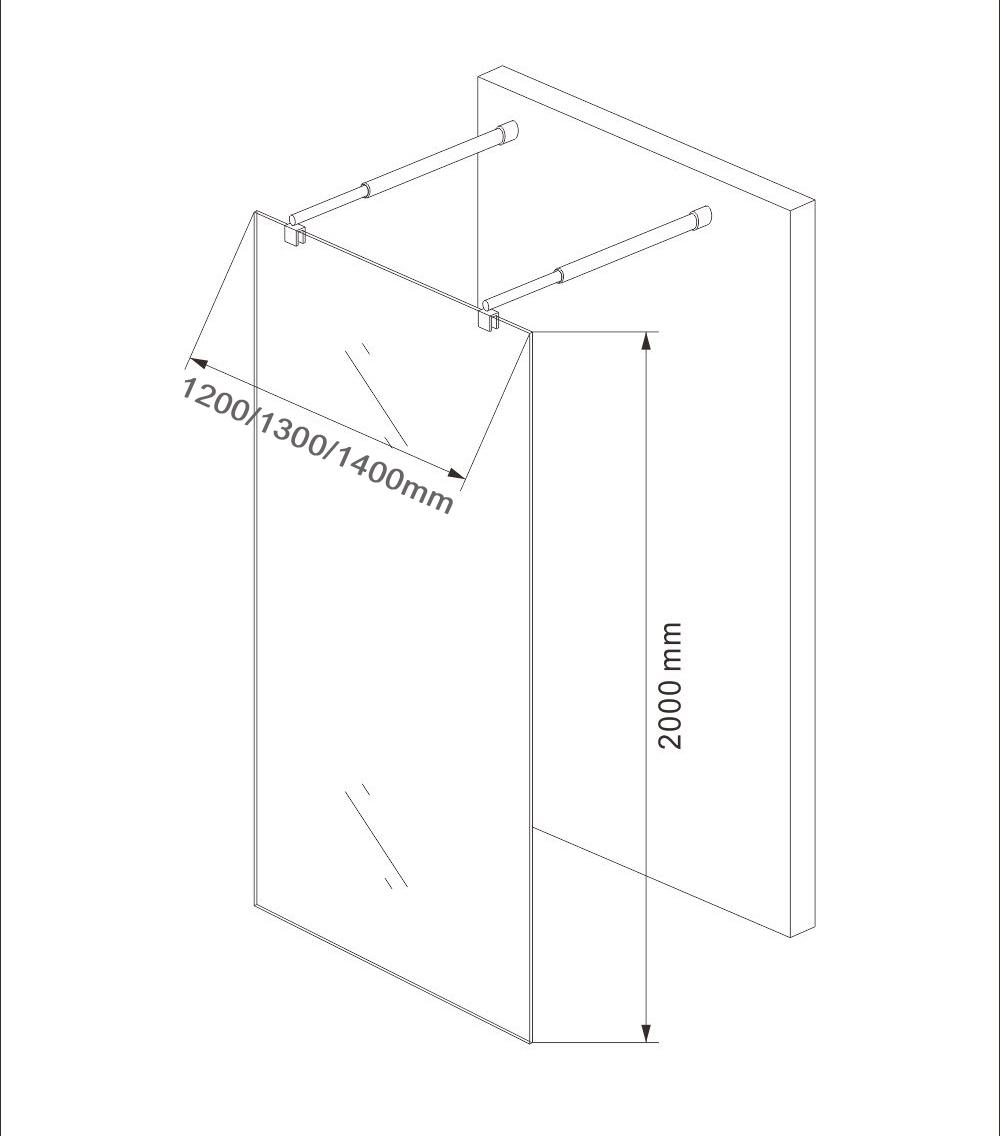 Shower enclosure EX105 - Drawing