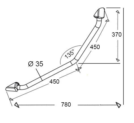 Haltegriff FSL-900 - Zeichnung 1