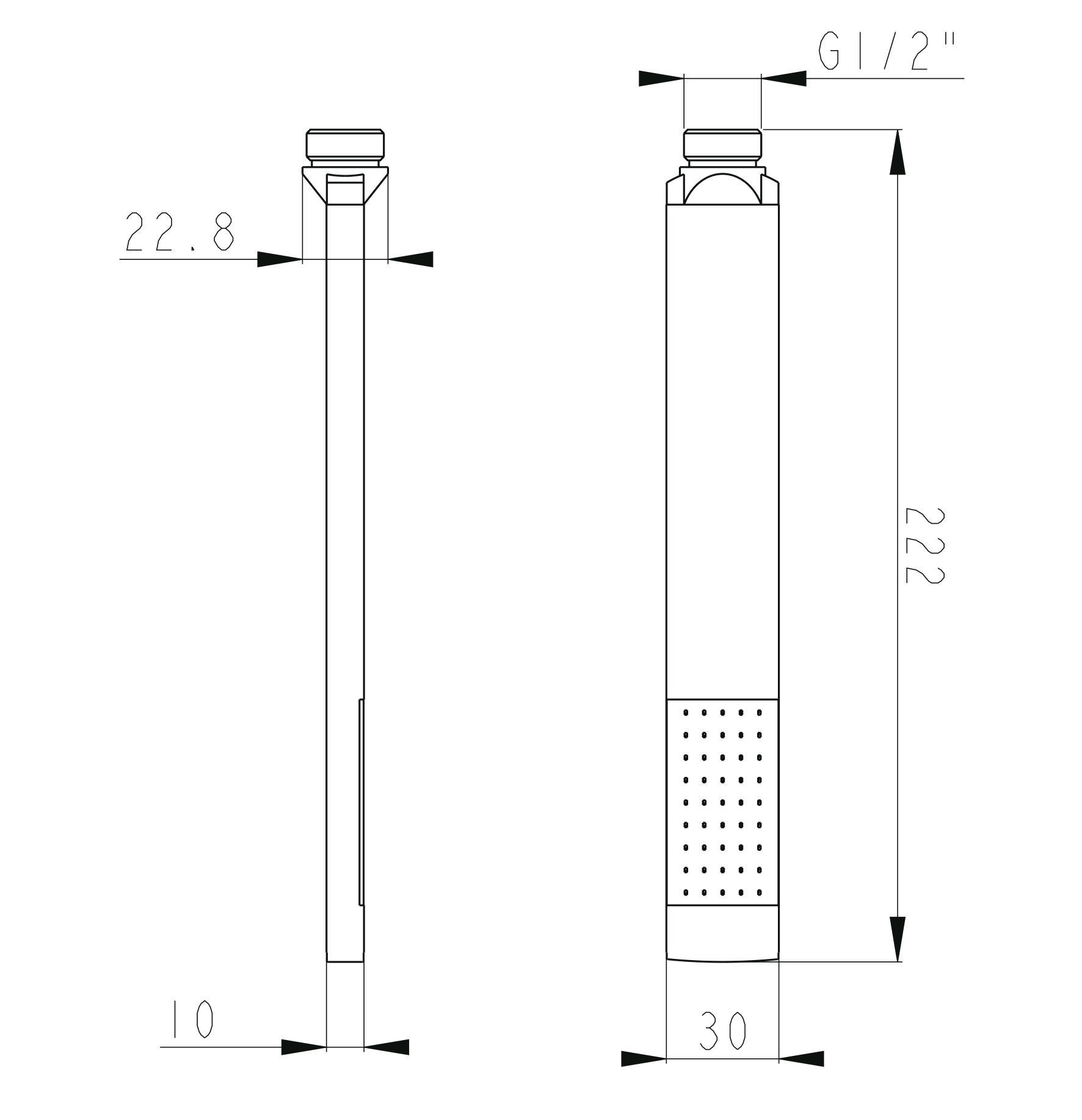 Handbrause HB12E - Zeichnung
