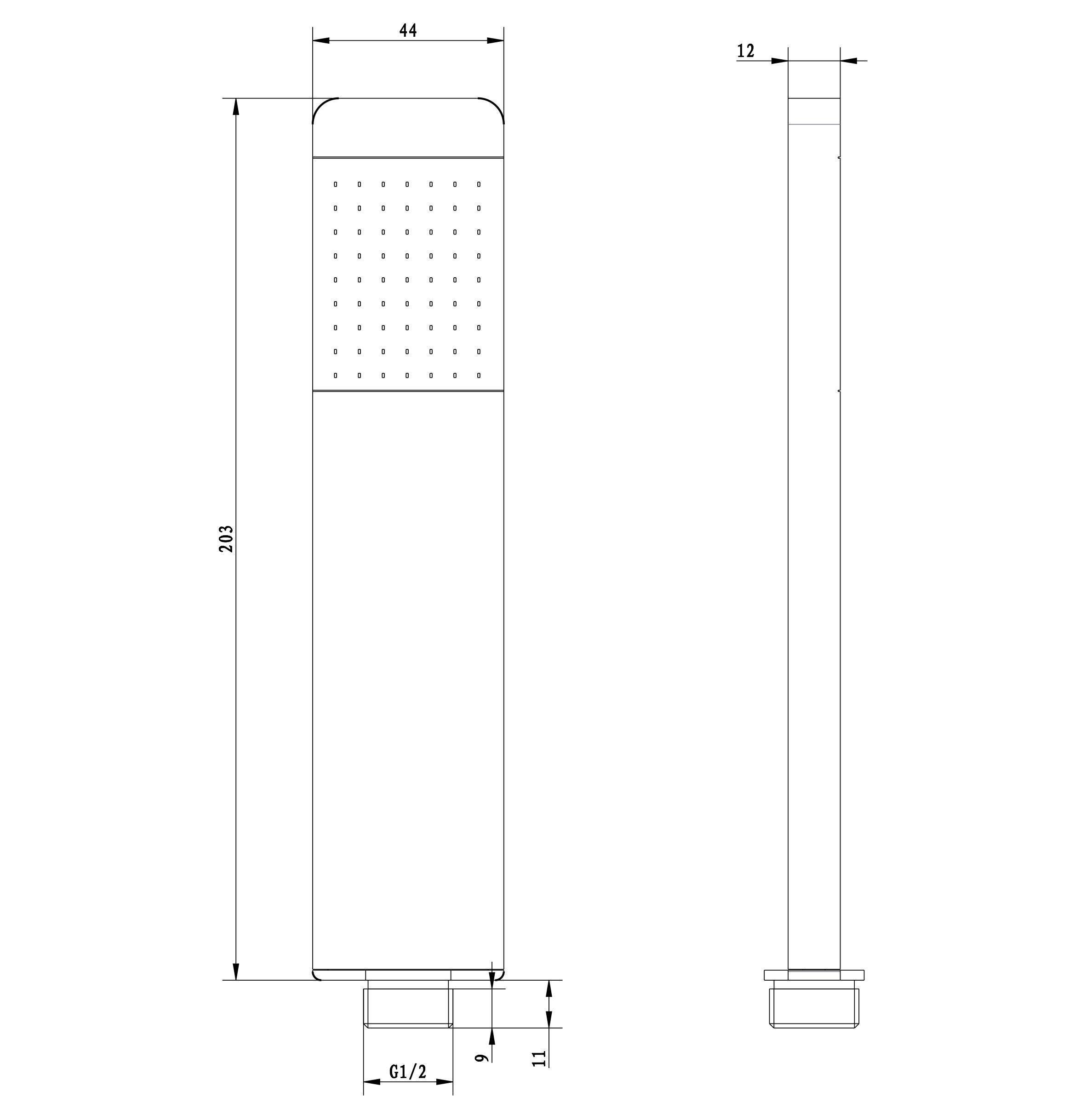 Handbrause HB13R - Zeichnung