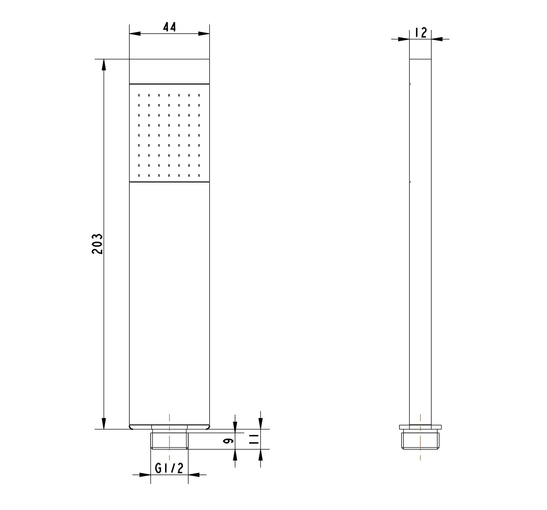 Handbrause HB16E - Zeichnung