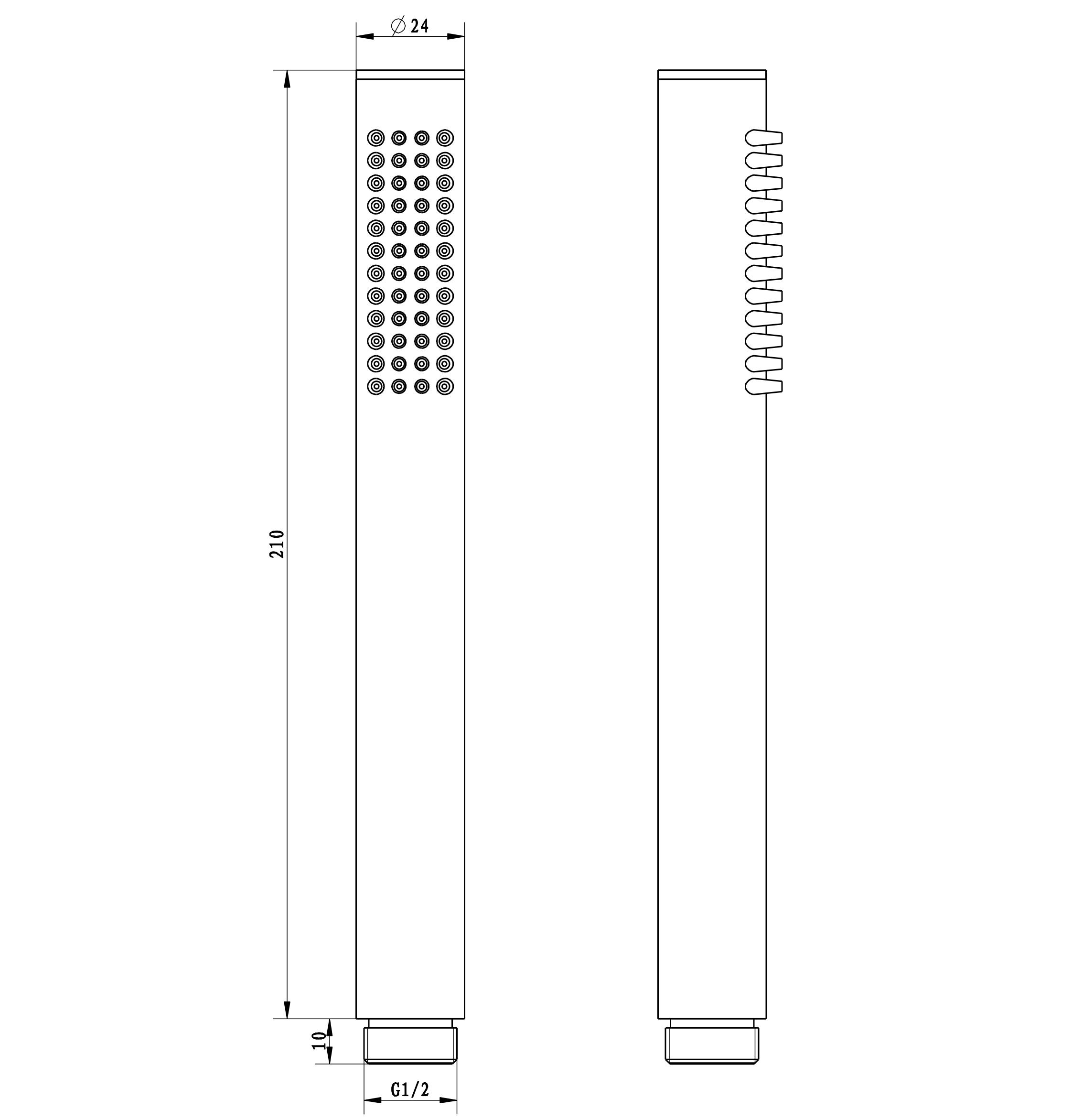 Handbrause HB10R - Zeichnung