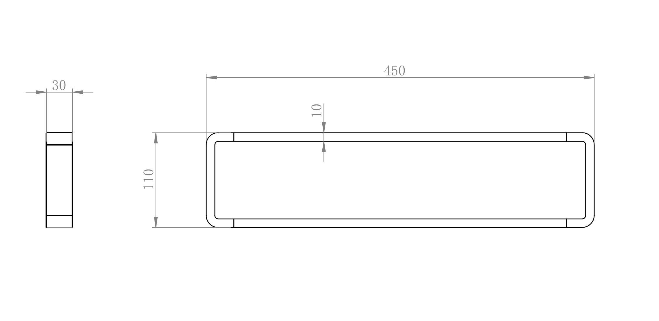 Handtuchhalter SDLHH45 - Zeichnung