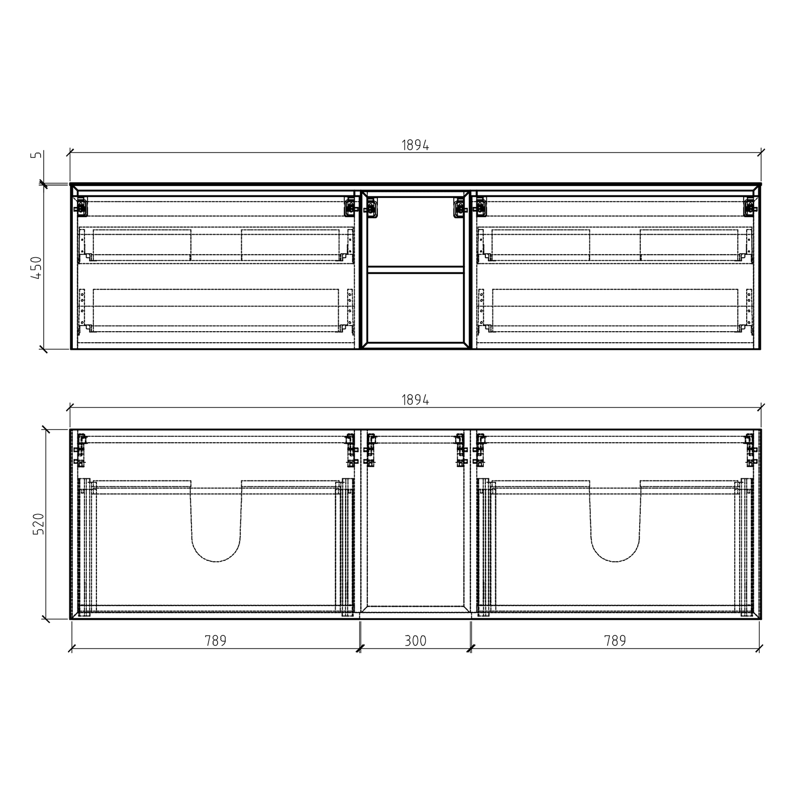 Inalco 1900 Cabinet - Drawing 1