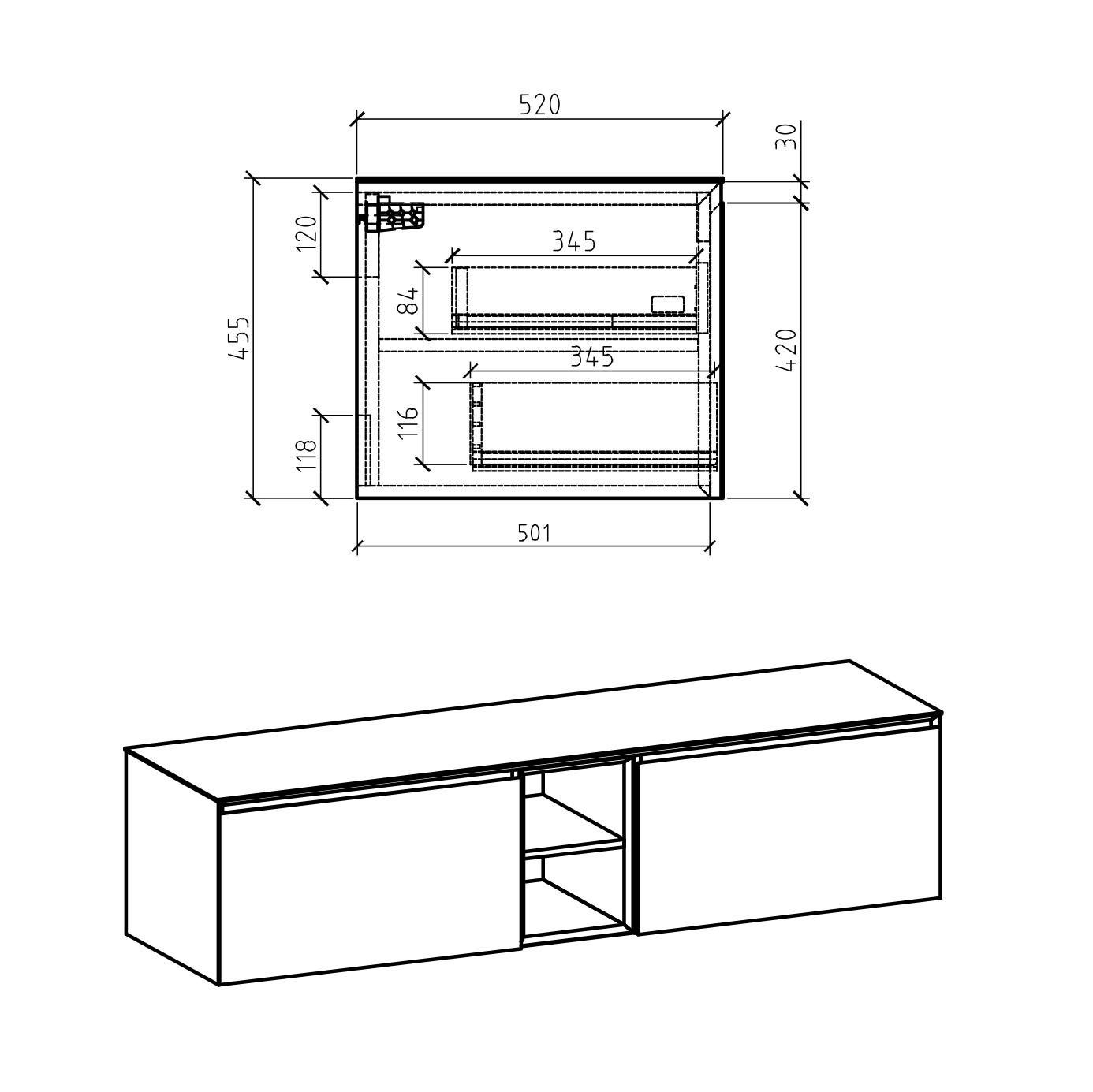 Inalco 1900 Cabinet - Drawing 2