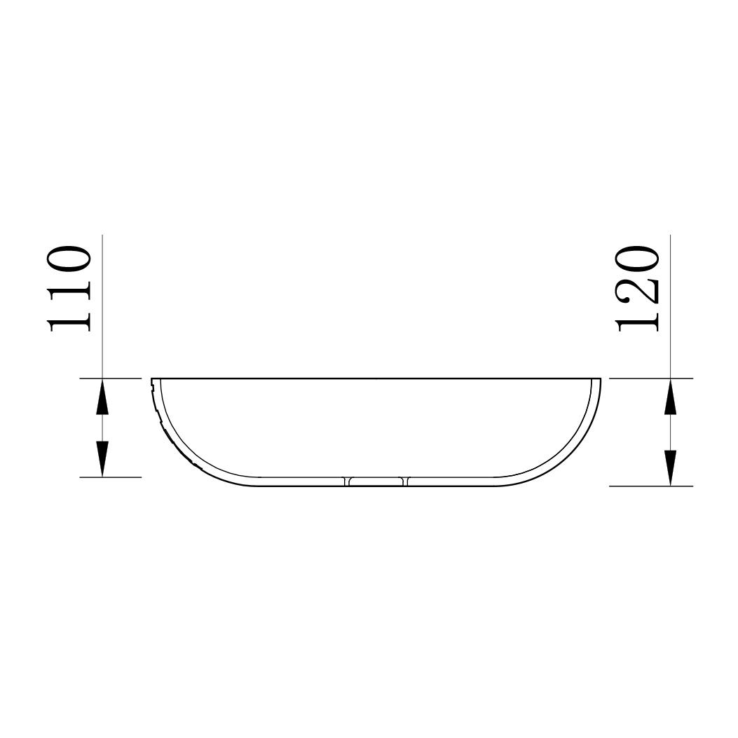 Countertop Wasbasin LEO - Drawing 1