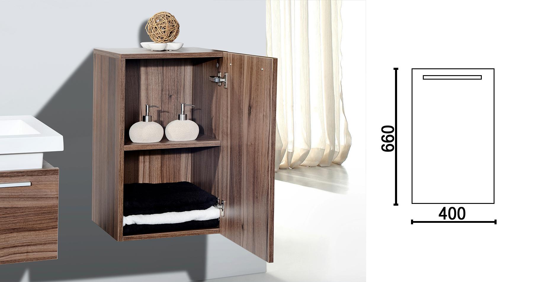 N1200 walnuss - Seitenschrank rechts klein