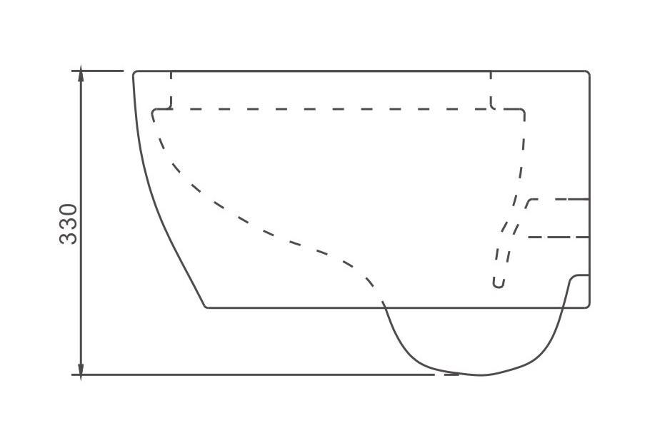 Spülrandloses WC NT2038 - Zeichnung 2