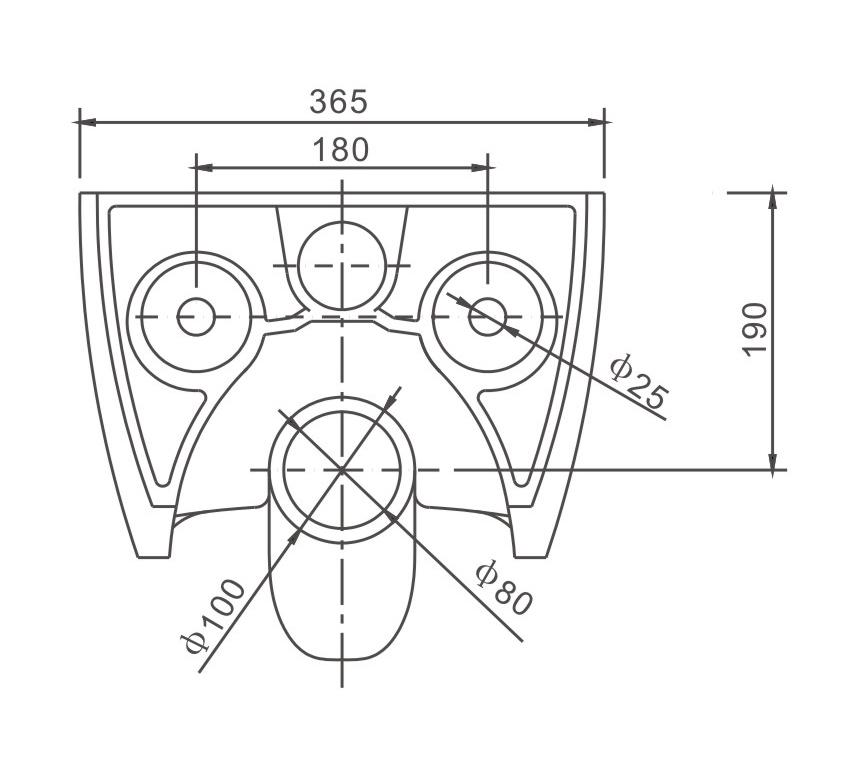 Spülrandloses WC NT2038 - Zeichnung 3