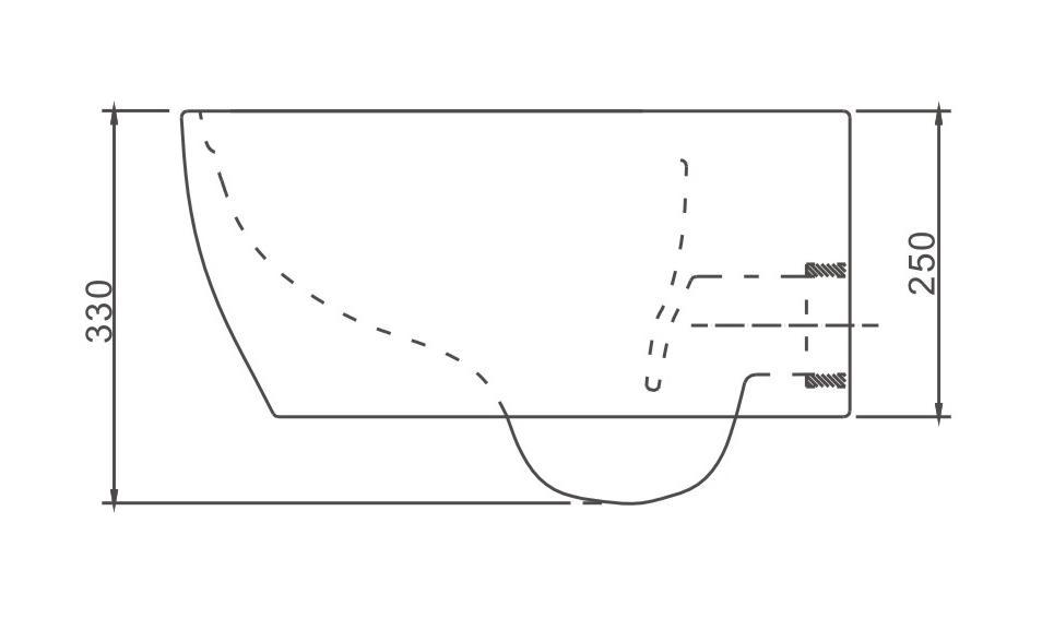 Spülrandloses WC NT2039 - Zeichnung 2