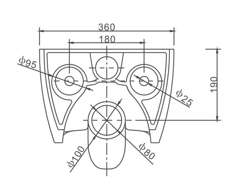 Spülrandloses WC NT2039 - Zeichnung 3