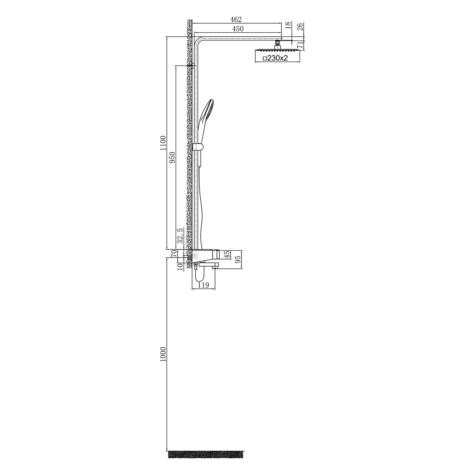 Duschsystem NT7305 - Zeichnung 1