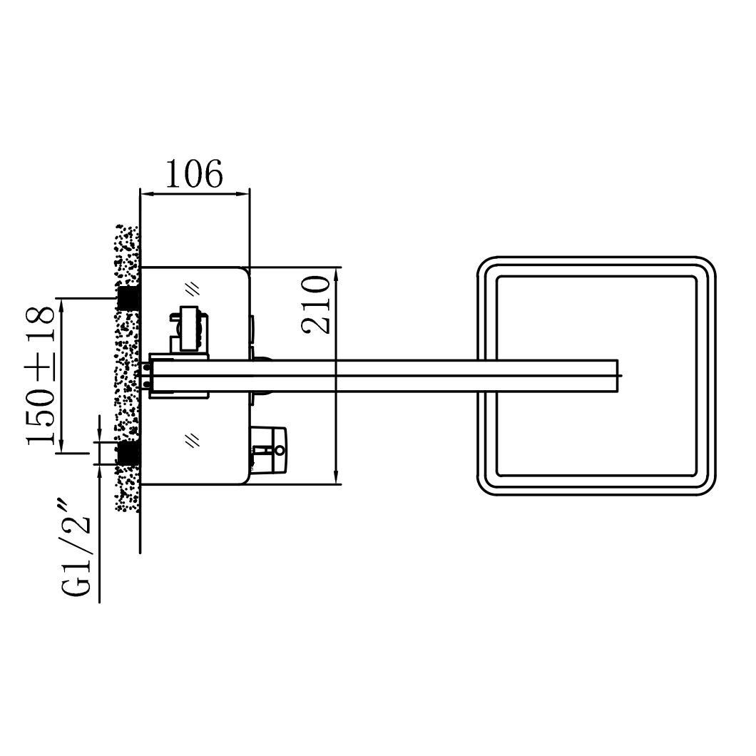 Duschsystem NT7305 - Zeichnung 2