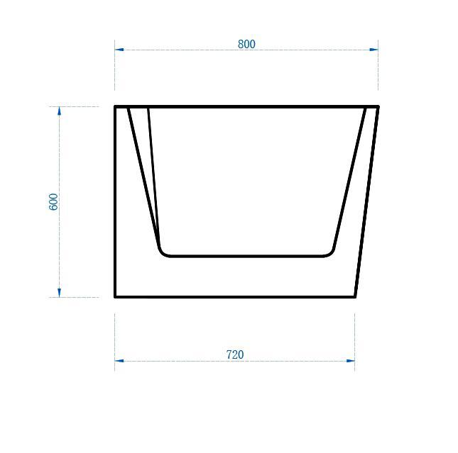 Freistehende Badewanne Nova Plus - Zeichnung 3
