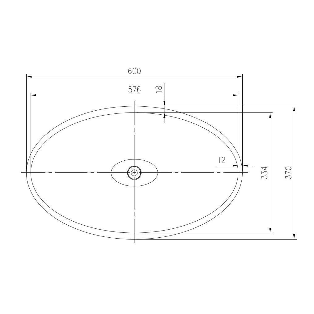 Aufsatzwaschbecken PB2001 - Zeichnung 1
