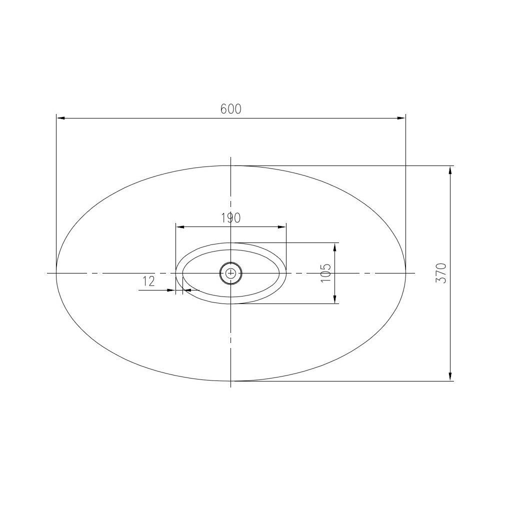 Aufsatzwaschbecken PB2001 - Zeichnung 3