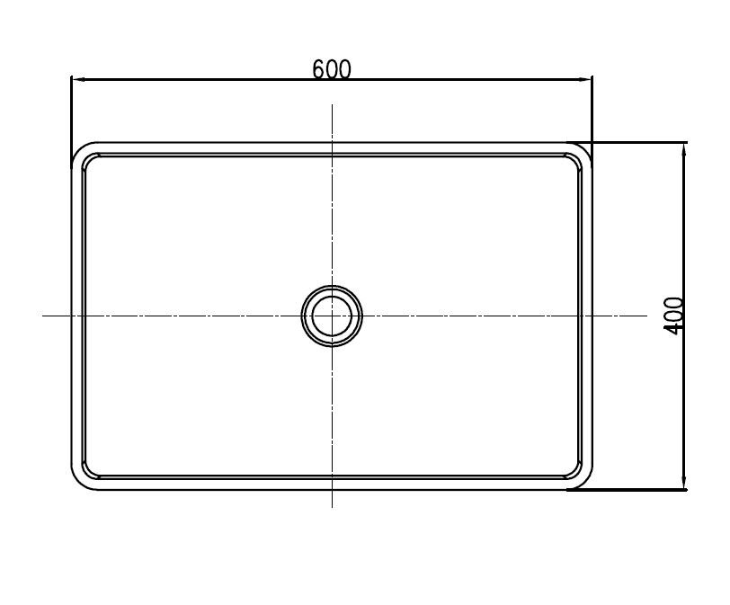 Aufsatzwaschbecken PB2012 - Zeichnung 1