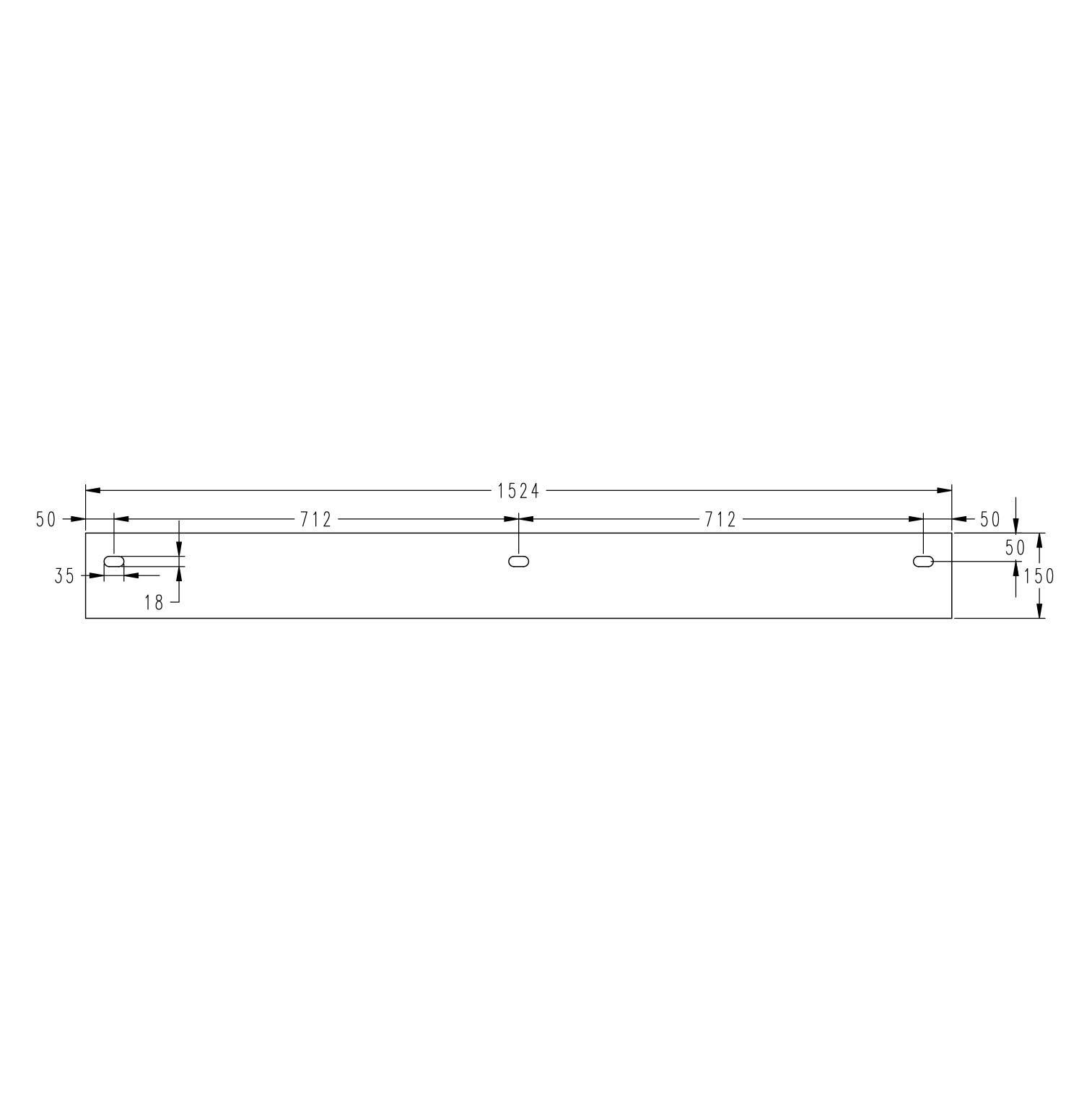Washbasin TWG231 153cm - Drawing 4
