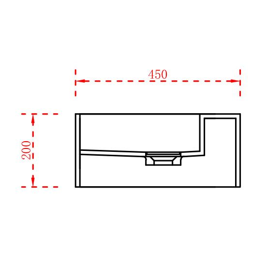 Wall-Hung Washbasin TWG235 - Drawing 2