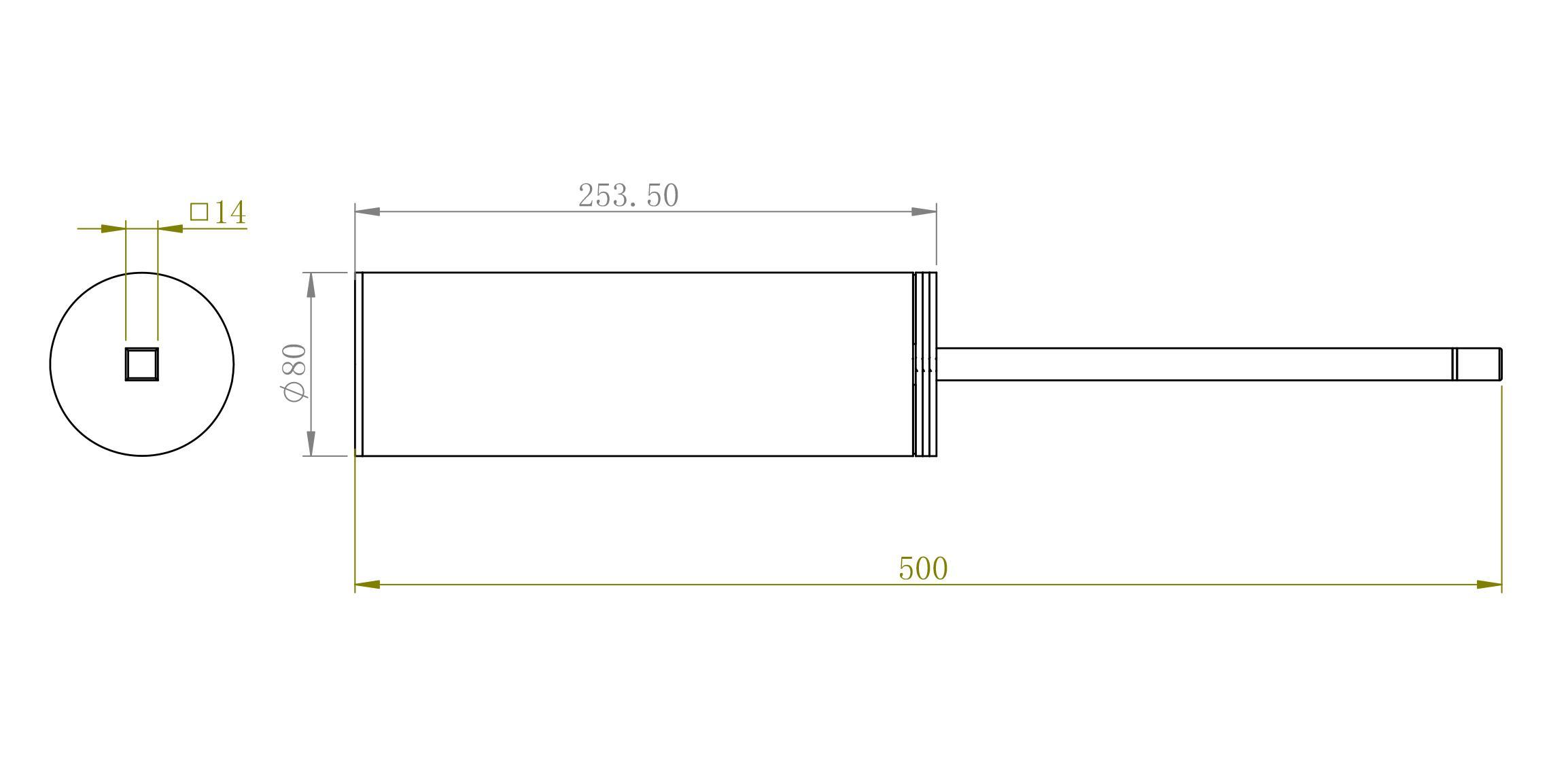Toilettenbuerstenhalter SDVTBH - Zeichnung