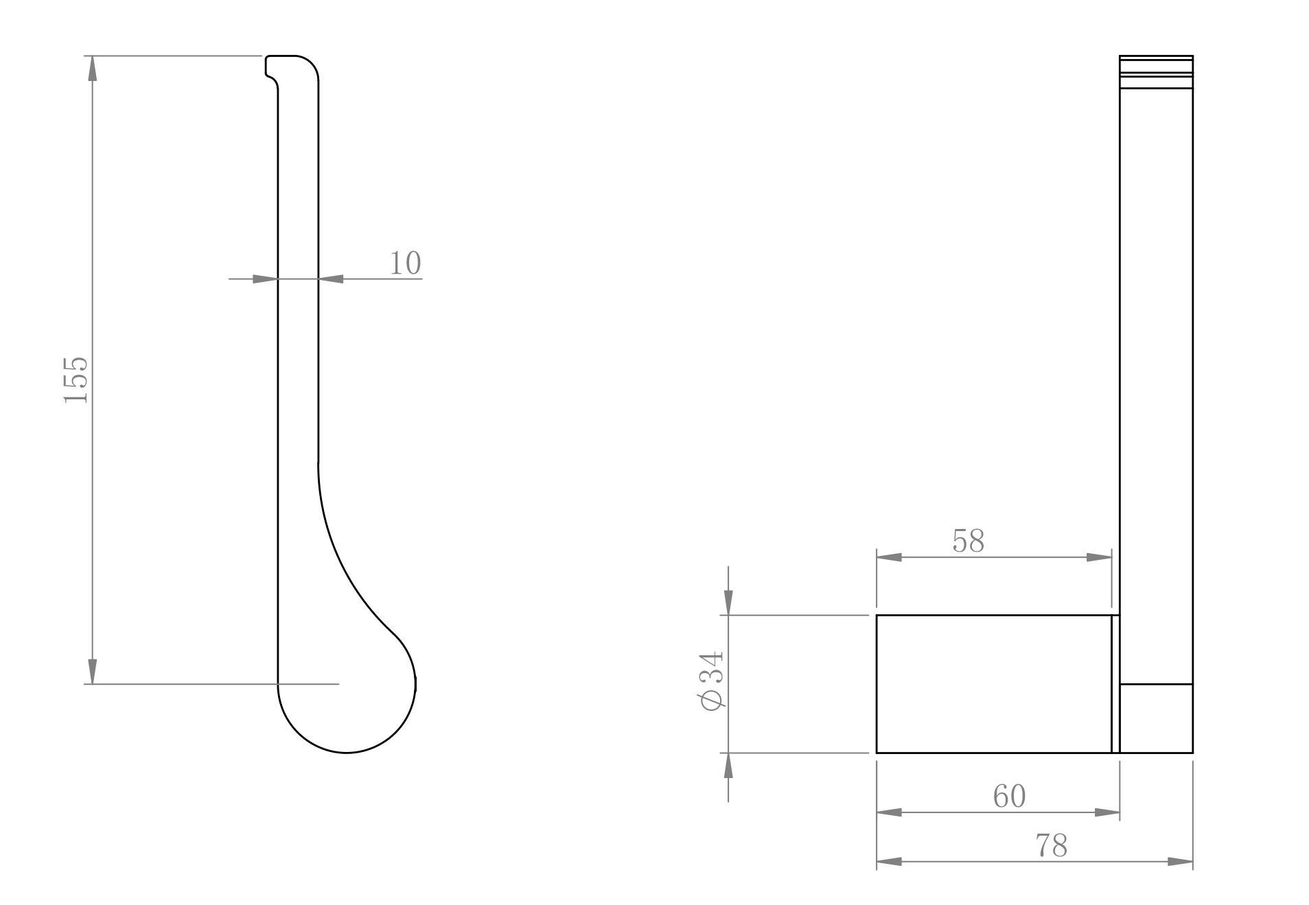 Toilettenpapierhalter SDVTPH - Zeichnung