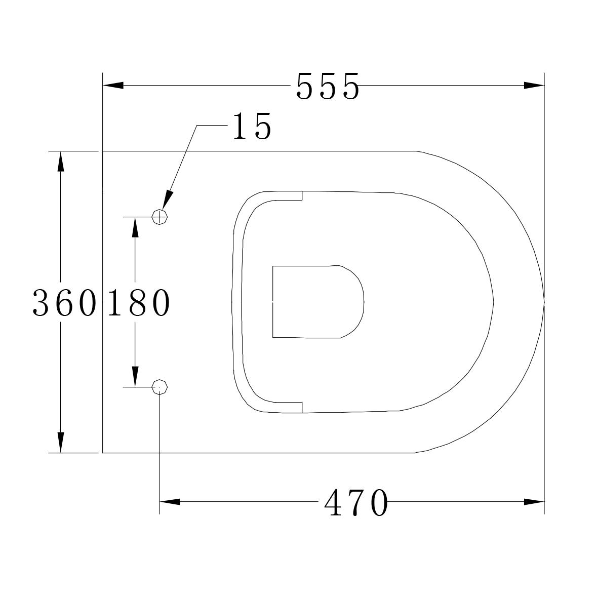 Wand-Hänge-WC B-8030R - Zeichnung 1