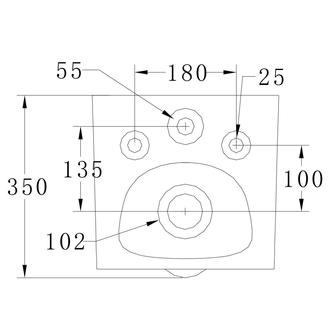 Wand-Hänge-WC B-8030R - Zeichnung 2