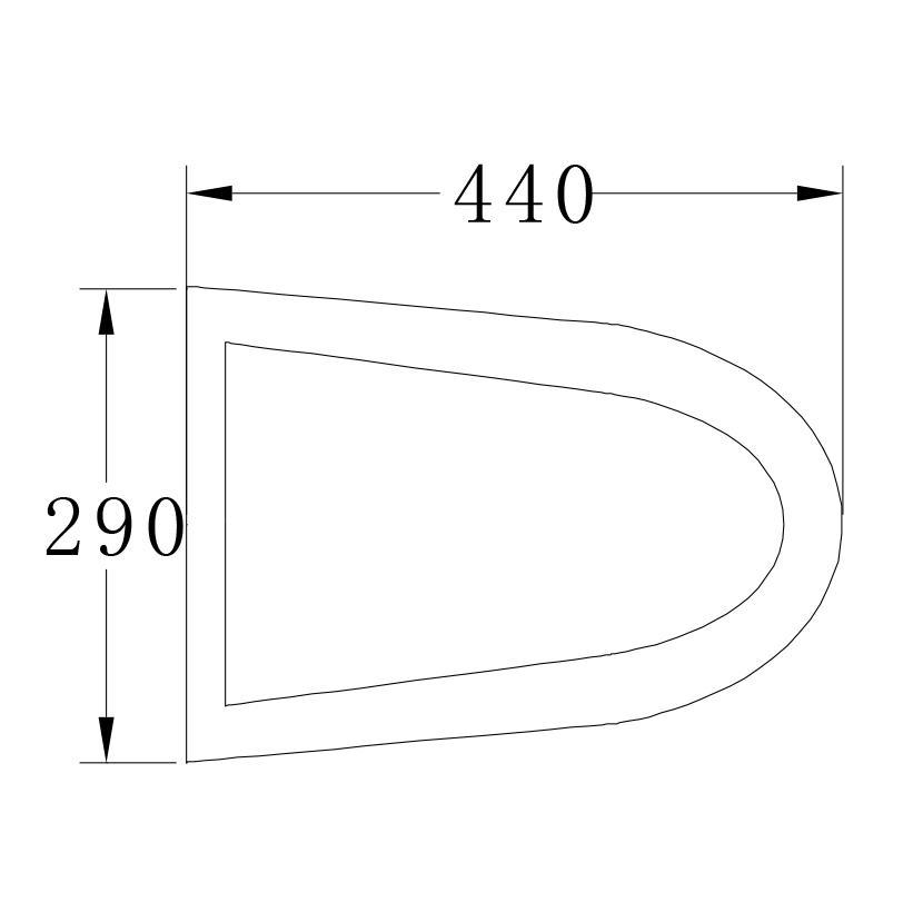 Wand-Hänge-WC B-8030R - Zeichnung 3