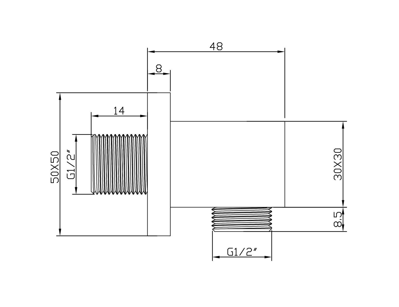 Wandanschlussbogen BA007 - Zeichnung