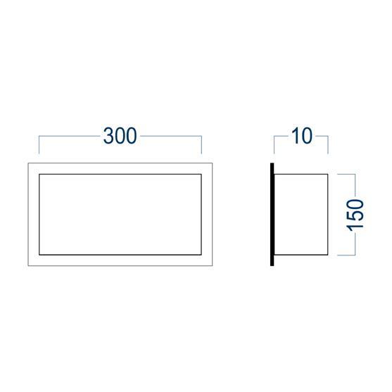 Wandnische BS153010 - Zeichnung