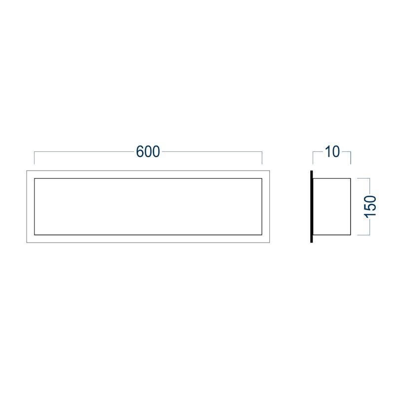 Wandnische BS156010 - Zeichnung