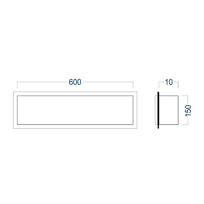 Wandnische randlos BS156010 - Zeichnung