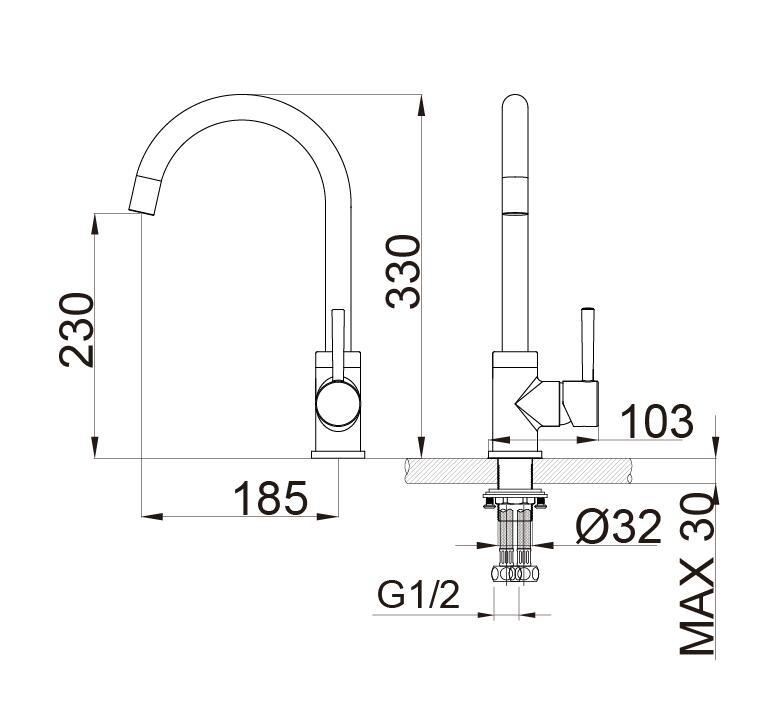 Waschtischarmatur 1434C-33