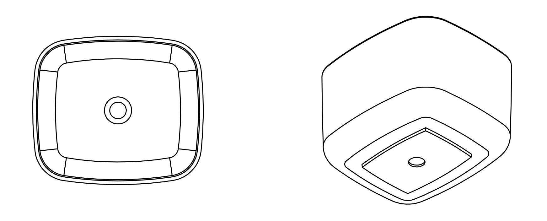 Aufsatzwaschbecken PB2094 - Zeichnung 3