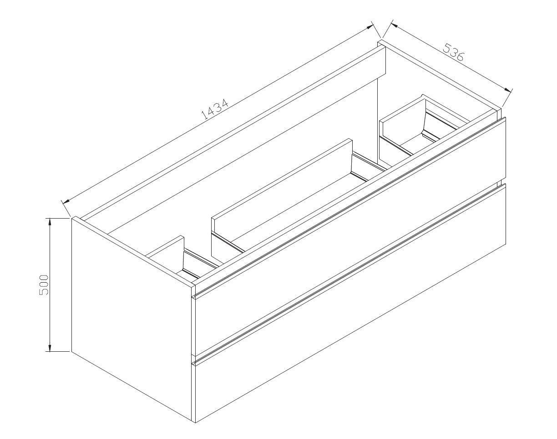Badmöbel-Set DELIA 1440 - Zeichnung 1